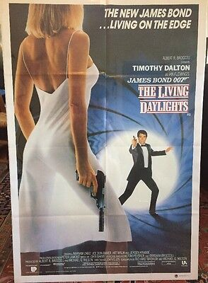 James Bond The Living Daylights One Sheet Movie Poster - Original 1987