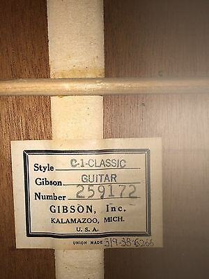 1966 Gibson C-1 Classical Guitar with case, USA