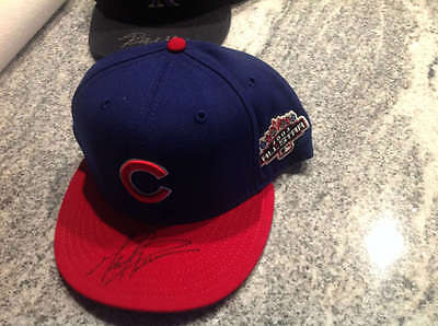Mark Prior Autographed 2003 All-Star Game Cubs Hat