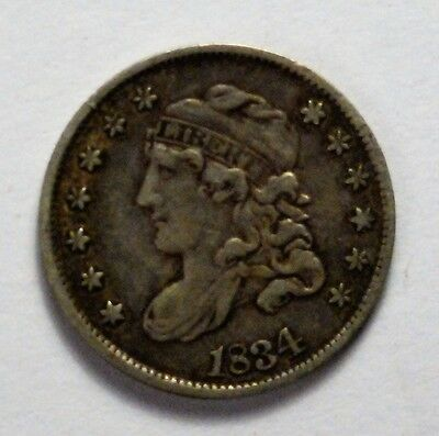 !834 Capped Bust Half Dime