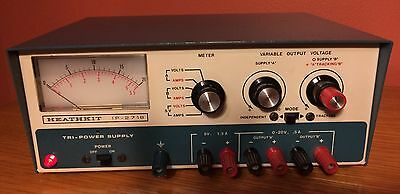 Heathkit IP-2718 Tri Power Supply Variable Output Voltage