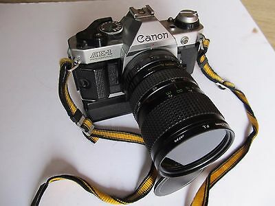 Vintage 1980's Canon AE-1 Program 35mm SLR Camera with motor Drive