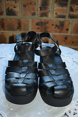 Womens 'windsor Smith'  Leather Shoes. Size 9. Black .as New.