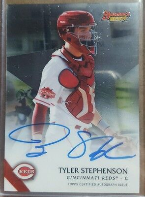 2015 bowmans best auto card of tyler stephenson. Reds