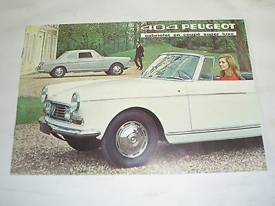 1968 Peugeot 404 Cabriolet and Coupe Brochure