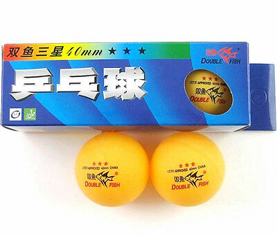 2 Boxes (6 Pcs) Double Fish 3 Stars 40MM Olympic Games Orange Ping Pong Balls