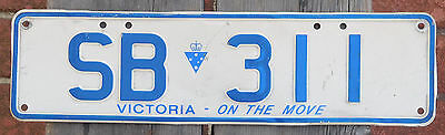 """License Plate Number Plate VIC Slimline Personalized """"centred""""  SB 311"""
