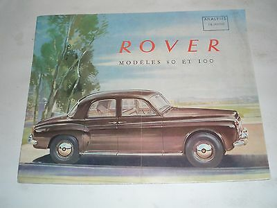 1960 Rover 80 & 100 Brochure ( French)
