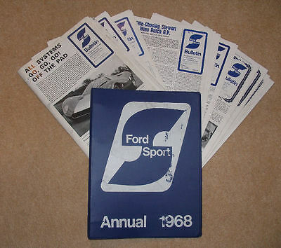 Fordsport Annual & Newsletters, Bulletins etc 1968/69
