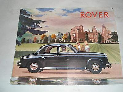 1959 Rover 60,75,90 & 105 Brochure ( French)