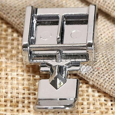 Hot 2 Sides Zipper Foot For Sewing Machine Brother Janome Singer Snap on Models
