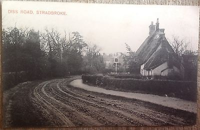 Stradbroke Showing Diss Road With Pub Sign(?)