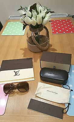 100%Auth LOUIS VUITTON Obsession Sunglasses Glitter Honey + Receipt Box £350 RRP