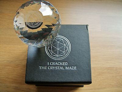 Official I Cracked The Crystal Maze Crystal & Box.Games,TV,Sphere,Jewellery,Art.
