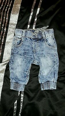 beautiful baby boy washed out effect jeans size 0-3months