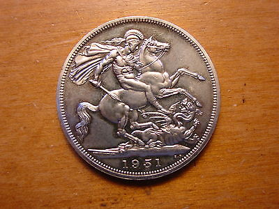 British Festival Of Britain Crown Coin King George 1951