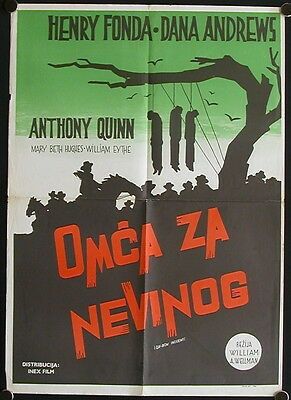 The Ox-Bow Incident (1943) Yugoslav Poster