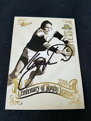 Nrl 2008 Centenary Signed Top 100 Rugby League Card Kerry Boustead