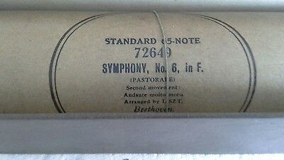 "Antique Pianola / Player Piano Music Roll- ""Symphony, no 6 Beethoven"