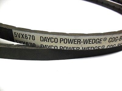 Dayco Power Wedge / Cog Drive Belt 5Vx670  V-Belt   **surplus Stock**