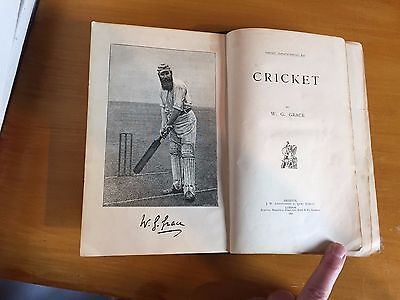 1891 Cricket by WG Grace 1st Edition vgc full of photos excellent edition
