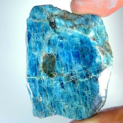 108.70Cts.GORGEOUS COLORFUL 100% NATURAL NEON APATITE ROCK SLAB ROUGH SPECIMEN