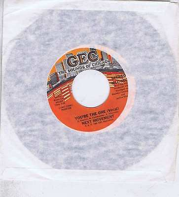 Next Movement You're The One(Vocal)/instrumental 7'' Geg Mlc-500