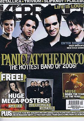 PANIC AT THE DISCO / MUSE / METALLICA / TRIVIUM Kerrang no. 1137 Dec 9 2006