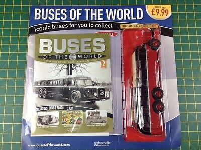 Hachette - Buses Of The World - Issue 2 - Mercedes Benz 0 10000 1938 1:43 Scale