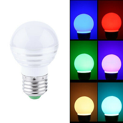 E27 3W Dimmable RGB LED Bulb Light Color Change With Remote Control House Bar ZY