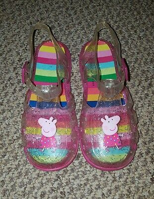 Next girls peppa pig jelly summer shoes sandals size 12