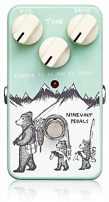 NINEVOLT PEDALS FISHING IS AS FUN AS FUZZ Guitar Pedal Effect NEW FREE EMS