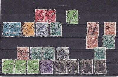 Germany Allied Occupation Post Ww2 Local Handstamp Overprints    R 1545