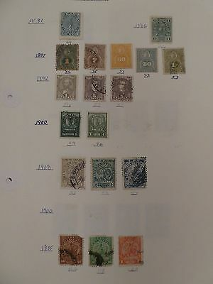 Paraguay collection of 42 stamps 1881 onwards