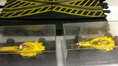 scalextric joblot, 2 f1 cars and 6 pieces of classic track