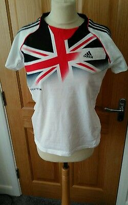 Womans Team GB Official Olyimpic Adidas T shirt size  14