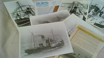 Paddle steamer EPPLETON HALL-6 Photos leaving the RIVER TYNE+Ships Monthly