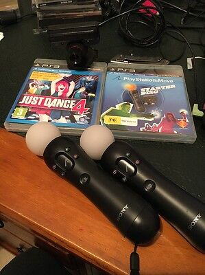 Playstation Move Starter Pack With Extra Controller And GamE PS3