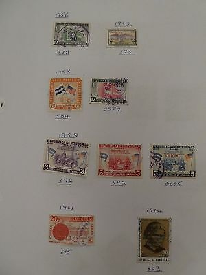 Honduras collection of 33 stamps 1878 onwards