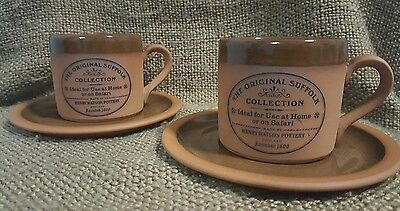 The Original Suffolk Collection. Henry Watson Pottery England Tea Cup & Saucers
