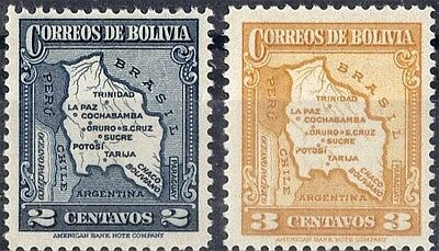 Bolivia.  1935  Definitive Map Issue.   SG284-285.  Mint.