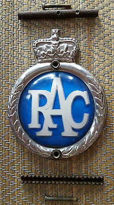 Vintage  R.a.c.  Car  Badge