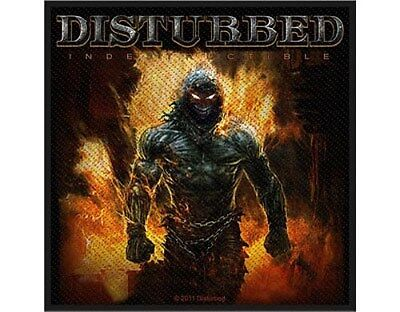 DISTURBED indestructible 2012 - WOVEN SEW ON PATCH official (sealed)