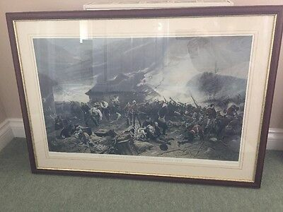 """Framed Print """"The Defence Of Rorke's Drift"""" Large 37""""x26"""""""