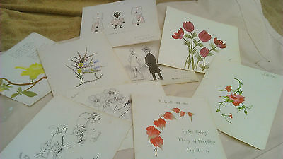 Edwardian 1900s Ink, & Watercolour Drawings by students of Hockerill 1904-1906