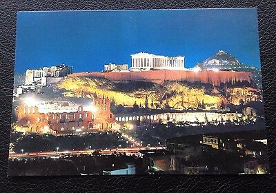 Postcard: Athens: Acropolis By Night: Unposted