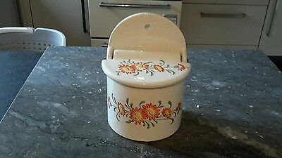 Vintage french ceramic salt pot/container