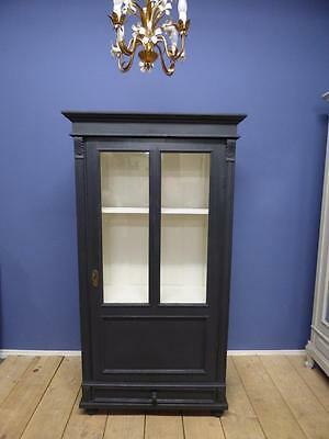 OLD FRENCH DISPLAY CABINET - ARMOIRE - CUPBOARD - ca194