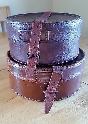Vintage Leather Collar Boxes