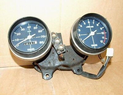 Yamaha RS 125 Clocks RS125 Tachometer Tacho Speedometer Speedo UK RS100? 80 MPH